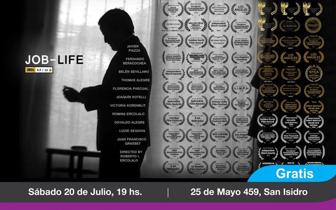 """SE PROYECTARÁ EN SAN ISIDRO EL RECONOCIDO CORTOMETRAJE """"JOB LIFE"""""""