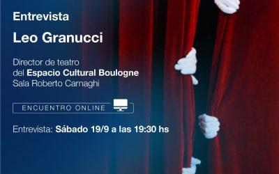 CICLO DE CHARLAS VIRTUALES: LEO GRANUCCI, GESTOR CULTURAL DE BOULOGNE
