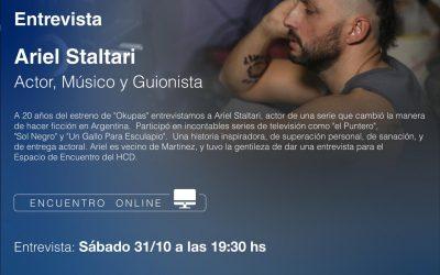 """CICLO DE CHARLAS VIRTUALES: ARIEL STALTARI, A 20 AÑOS DEL ESTRENO DE """"OKUPAS"""""""