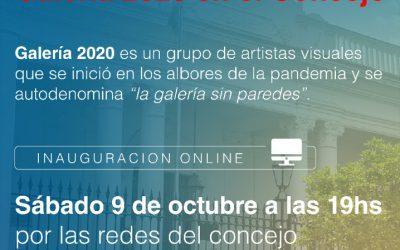 """INAUGURACIÓN VIRTUAL DE LA MUESTRA """"GALERIA 2020 EN EL CONCEJO"""""""